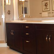 custom cabinets for the bathroom