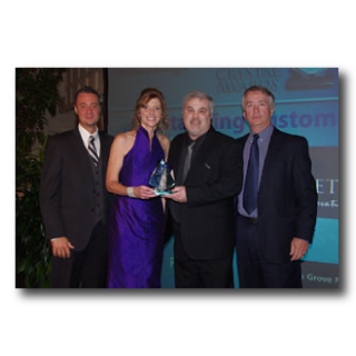 Cabinet Works receives the 2012 Crystal Award for Outstanding Customer Service